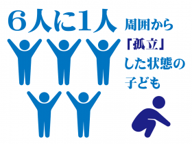 大阪市内の小中学生の6人に1人が「周囲から孤立した」状態