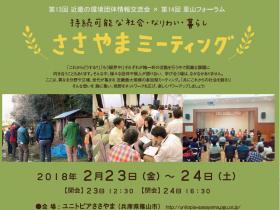 近畿の環境団体情報交流会×里山フォーラム 持続可能な社会・なりわい・暮らし ささやまミーティング